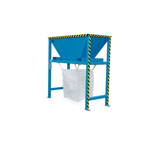 Entonnoir de remplissage pour sacs de transport BIG BAG, H x l x P 2050 x 1980 x 980 mm