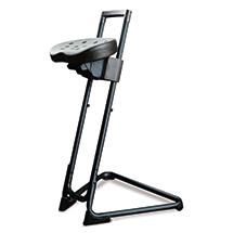 Ergonomische Stehhilfe, Sitz schwenk- und neigbar, arretierbare Höhenverstellung