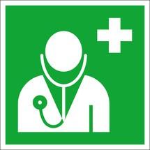 Erste-Hilfe-Kennzeichnung – Arzt