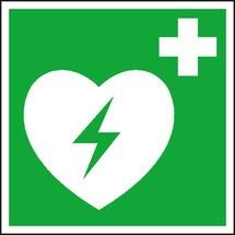 Erste-Hilfe-Kennzeichnung – Defibrilatoren (AED)