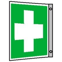 Erste-Hilfe-Kennzeichnung – Erste Hilfe, Fahne