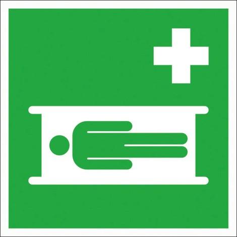 Erste-Hilfe-Kennzeichnung – Krankentrage