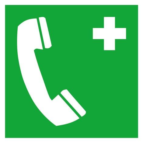 Erste-Hilfe-Kennzeichnung – Notruftelefon