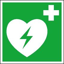 Erste-Hilfe-Zeichen Defibrillator (AED)