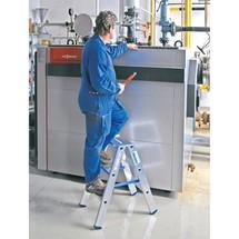 Escabeau KRAUSE® en aluminium, accessible des 2 côtés