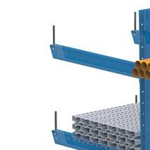 Espiga antirodadura para estantería cantilever META, cargas pesadas