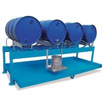 Estação de enchimento para barris de 200 litros