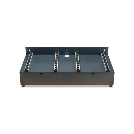 Estación de carga para sistemas con bastidor de cambio de baterías con rodillos