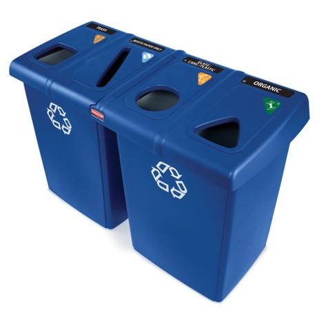 Estación de reciclaje Rubbermaid Glutton®
