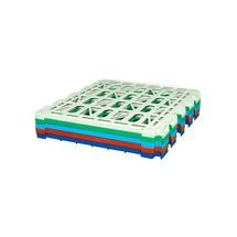 Estante intermedio de HDPE para contenedores rodantes de 4 caras, An x F 710 x 710 mm
