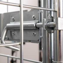 Estante intermedio para contenedores rodantes de acero de medidas europeas