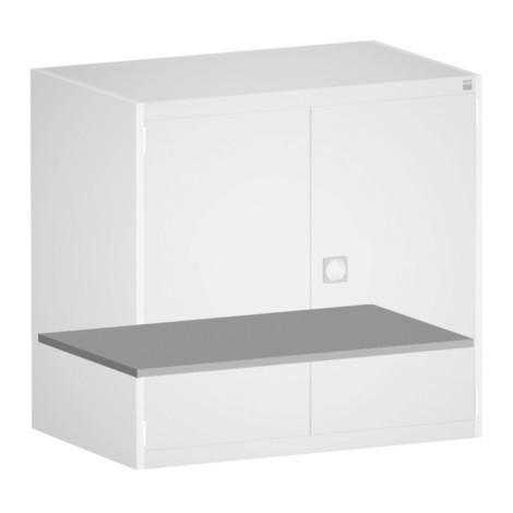 estante intermedio para sistema de puerta con bisagras armario bott cubio