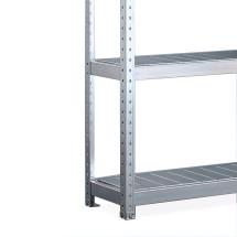 Estantería ancha de META, con paneles de acero, módulo inicial