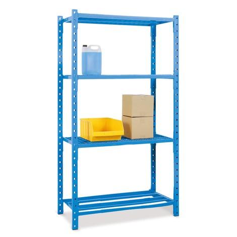 Estantería de cargas pequeñas, módulo inicial, con baldas de tubos de acero, carga por estante de hasta 500 kg