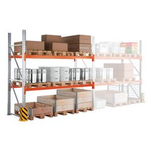 Estantería de paletización META MULTIPAL, módulo adicional y carga por módulo de hasta 13.300 kg