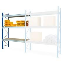 Estantería ancha, con bases de aglomerado, módulo adicional, carga por estante de hasta 980 kg