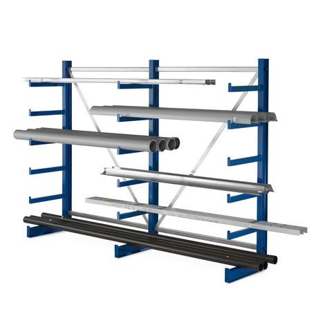 Estanteria cantilever META, módulo básico, unilateral, capacidade de carga de 200 kg