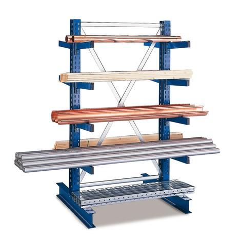 Estanteria cantilever META, módulo básico, bilateral, capacidade de carga até 430 kg