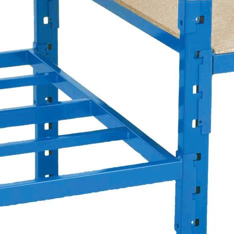 Estantería de cargas pequeñas, módulo adicional, con baldas de tubos de acero y carga por estante de hasta 500 kg