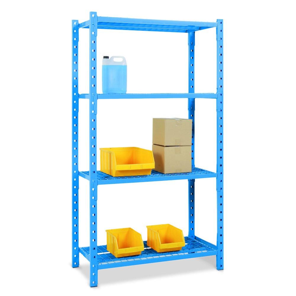 Estantería de cargas pequeñas, módulo inicial, con baldas de rejilla, carga por estante de hasta 500 kg