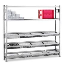 estantería de cargas pequeñas SCHULTE con cestas de malla cerrada