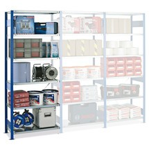 estantería de cargas pequeñas SCHULTE, módulo adicional genciana azul/galvanizado