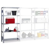 estantería de cargas pequeñas SCHULTE, módulo adicional montaje enchufable f Carga 150 kg, galvanizado