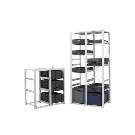 Estantería de contenedores para cajas apilables Eurobox, módulo inicial