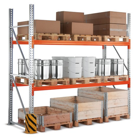 Estanteria de paletização META MULTIPAL, módulo básico, carga de 13 290 kg por módulo