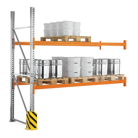 Estanteria de paletização META MULTIPAL, módulo de montagem, carga de 7500 kg por módulo