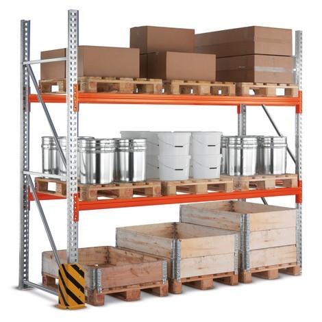 Estanteria de paletização META MULTIPAL, módulo básico, carga de 13300 kg por módulo