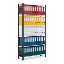 estantería para archivo SCHULTE módulo inicial, de una sola cara, sin topes finales, carga por estante 85 kg, negro