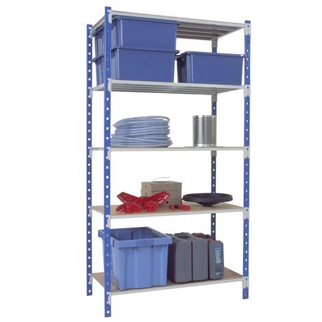 Estanteria para picking, módulo básico, azul celeste/cinza-claro, carga de 233 kg por prateleira