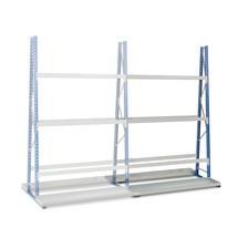 Estanteria vertical bilateral, módulo de montagem