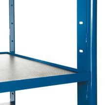 Etage met hoekprofiel voor etagewagens voor zware lasten
