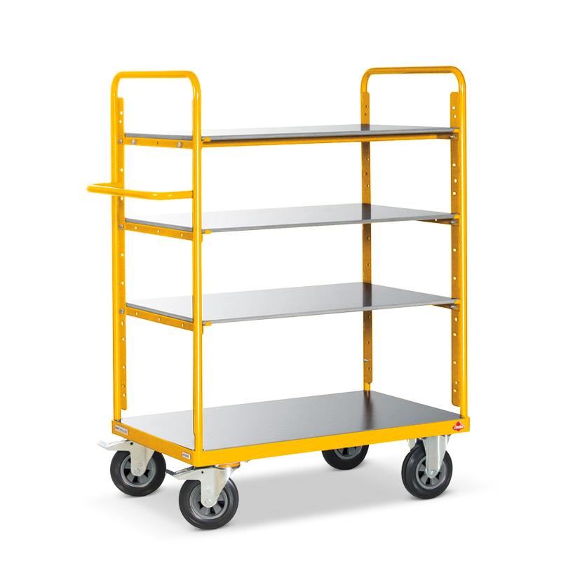 Etagenwagen Ameise ®. 4 Holzböden, Tragkraft 500kg