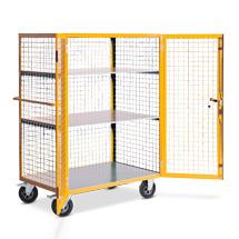 Etagenwagen Ameise ® geschlossen aus Drahtgitter. Tragkraft 600kg