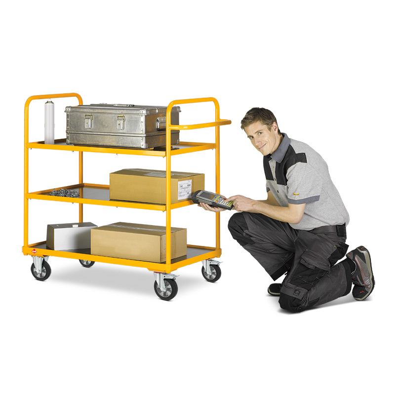 Etagenwagen Ameise ®. Mit 3 oder 4 Etagen, Tragkraft 250kg