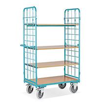 Etagenwagen Ameise® mit 4 Böden, ohne Rückwand