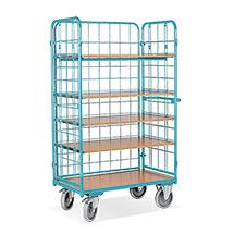 Etagenwagen Ameise® mit 5 Böden und 3-seitig vergittert