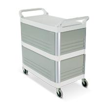 Etagenwagen aus Polypropylen mit 3 Böden. 3 Seiten geschlossen. Tragkraft 135 kg