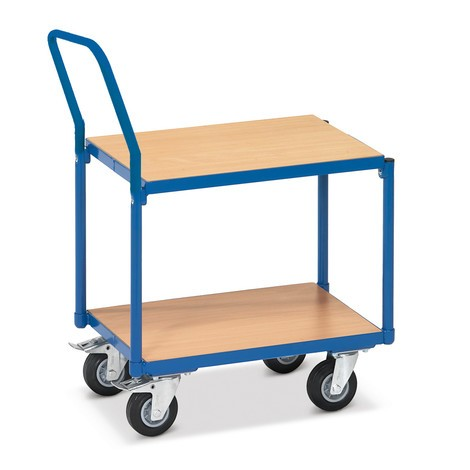 Etagenwagen fetra®, 2 Holzböden