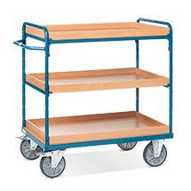 Etagenwagen fetra® mit 3 Einlegekästen. Ohne Wand-Streben