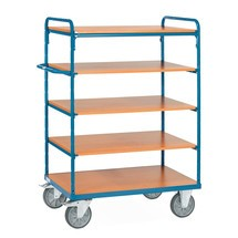 Etagenwagen fetra® mit Holzböden