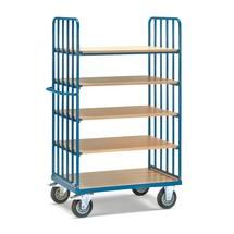 Etagenwagen fetra® mit vertikalen Rohrstreben, 2 Wände