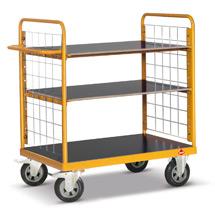 Etagenwagen mit Gitterwänden Ameise®. Tragkraft bis 500kg