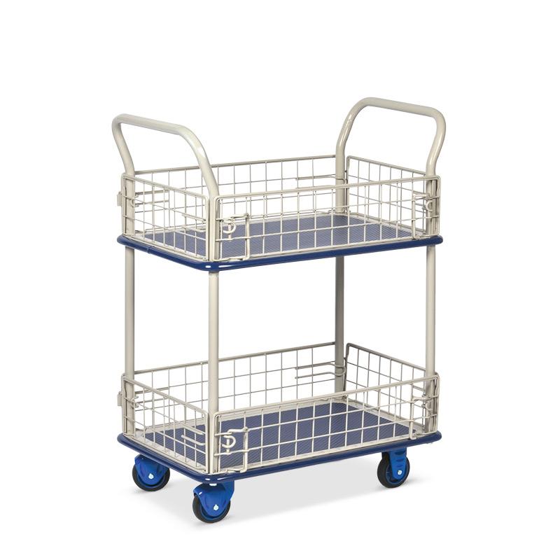 Etagenwagen PRESTAR ® mit 2 Böden und je 4 Gitterwänden