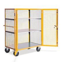 Etagewagen Ameise ® gesloten, van gaasrooster. Capaciteit 600kg