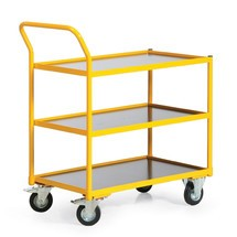 Etagewagen Ameise® met 3 borden. Capaciteit 250 kg