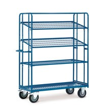 Etagewagen fetra® voor eurokratten met 4 roosterbodems. Capaciteit 400 kg